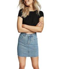 cotton on classic stretch denim mini skirt