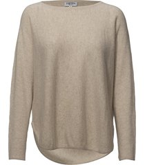 curved sweater gebreide trui crème davida cashmere