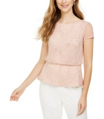 adrianna papell beaded mesh top