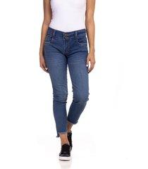 jeans b/tubo desflecado