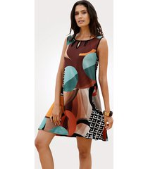 strandklänning sunflair brun::petrol::orange