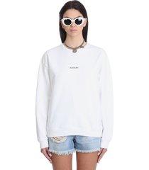 acne studios fire strap sweatshirt in white cotton