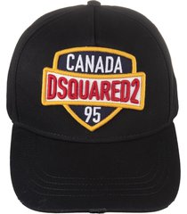 black baseball cap with canada dsquared2 95 patch
