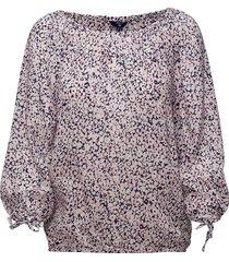 o1. ditzy flower blouse blouse lange mouwen roze gant