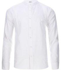 camisa hombre m/l cuello mao color blanco, talla l