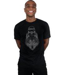 camiseta ventura wolfskater preto - preto - masculino - dafiti