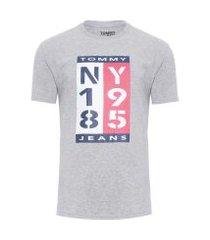 t-shirt masculina 1985 vertical logo tee - cinza