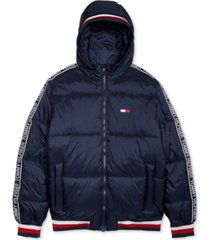 tommy hilfiger adaptive men's cabin puffer jacket with magnetic zipper