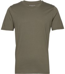 slhtheperfect ss o-neck tee b t-shirts short-sleeved grön selected homme