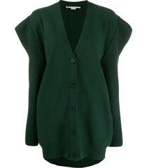 stella mccartney structured shoulder cardigan - green