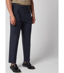 officine generale men's hugo light poplin trousers - navy - l