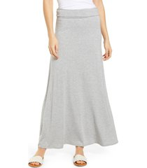 loveappella roll top maxi skirt, size xx-large in heather gray at nordstrom