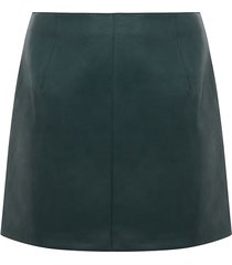 curve leather look skirt