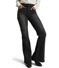 jeans flare negro rockford