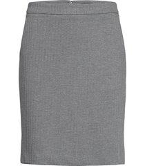 d1. herringb jersey skirt kort kjol grå gant