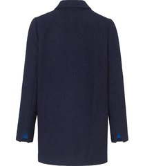 lange blazer in oversized-style van looxent blauw