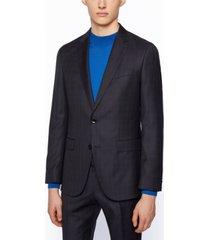 boss men's plain-check slim-fit suit
