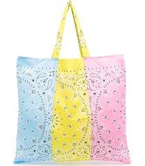 arizona love colour-block bandana tote bag - yellow