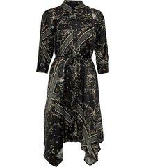 maia assam dress knälång klänning svart allsaints