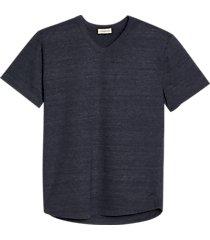 alternative apparel modern fit eco jersey shirttail v-neck t-shirt navy
