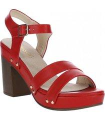 sandalia mujer naveen rojo azaleia