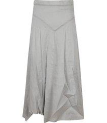 isabel marant long fitted waist skirt