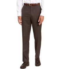 sean john men's classic-fit stretch brown neat suit separate pants