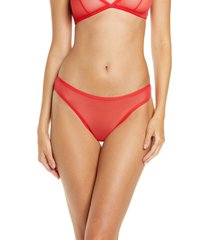 women's luelle elle classic mesh thong, size x-small - red