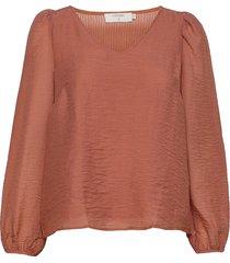 ranacr blouse blouse lange mouwen oranje cream