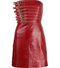manokhi buckle detail dress - red