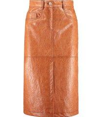 msgm stretch pencil skirt