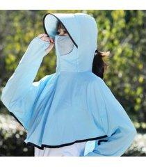 sombrero de sol impermeable y transpirable para mujer azul