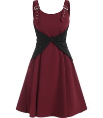 buckle bowknot a line dress