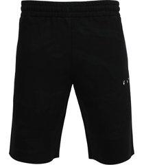black and grey tie-dye sweat shorts