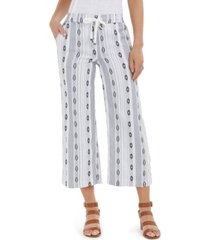 style & co cropped jacquard pants, created for macy's