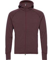 m's power houdi trueblack/trueblack s hoodie trui rood houdini
