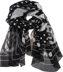 dolce & gabbana polka dot logo print scarf