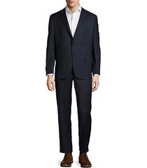 milburn solid notch-lapel wool suit