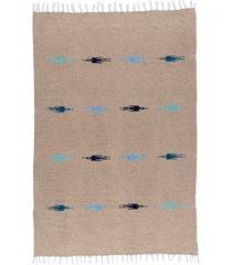 native yoga thunderbird blanket camel cotton