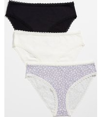 maurices womens 3 pack floral cotton bikini pantsies purple