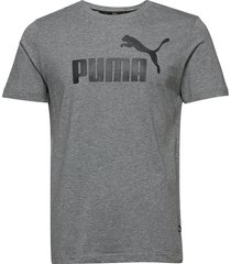 ess logo tee t-shirts short-sleeved grå puma