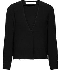 licious stickad tröja cardigan svart iro