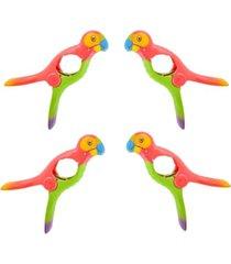 o2cool boca clips set of 4 towel clips