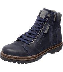 bota coturno em couro mega boots 6015 azul marinho - azul marinho - masculino - dafiti