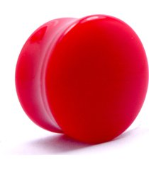 alargador plug vermelho leitoso