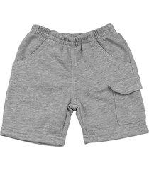shorts bebê moletinho essencial 3 bolsos mescla