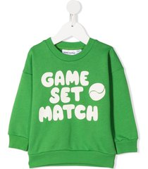 mini rodini game set match print sweatshirt - green