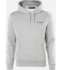 polo sport ralph lauren men's pop over hoodie - andover heather - s