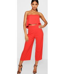 bandeau top & culottes co-ord set, sahara red