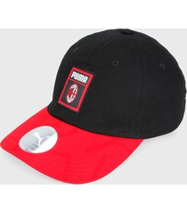 gorra negro-rojo puma ac milan dna archive baseball cap